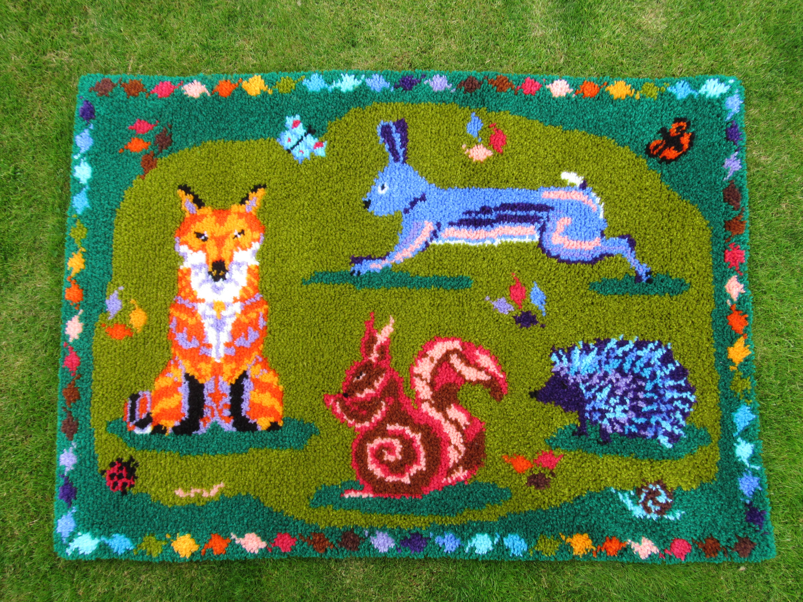 All Creatures Great Amp Small Latch Hook Rug Kit